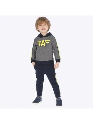 Костюм Спортивний, Пуловер + штани  (жовті смуги), Темно-синій, Mayoral Іспанія, 20OZ