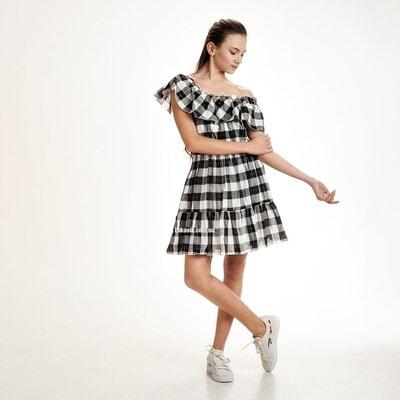 Сукня, в білу клітину, Чорний, Mayoral Іспанія, 21VL