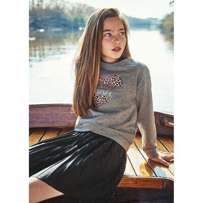 Сукня, низ в складочку + пуловер, Сірий, Mayoral Іспанія, 22OZ