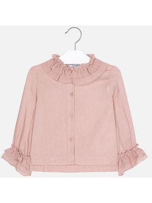 Блуза, довгий рукав, Рожевий, Mayoral Іспанія, 20OZ