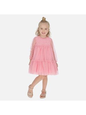 Сукня, в цяточку, довгий рукав, Рожевий, Mayoral Іспанія, 20VL