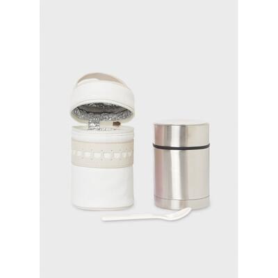Аксесуари, Сумка-холодильник + термос + ложечка, Кремовий, Mayoral Іспанія, 22OZ