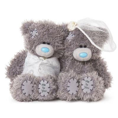 Іграшка М'яка, Ведмедик Тедді Наречений та Наречена,  10 см, Me To You Великобританія