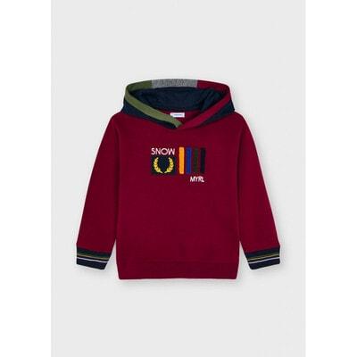 Пуловер, з капюшоном, утеплений, Бордовий, Mayoral Іспанія, 22OZ