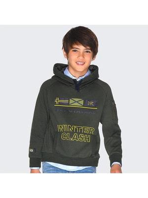 Пуловер, з капюшоном, Зелений, Mayoral Іспанія, 20OZ