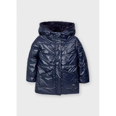 Куртка, двостороння, з капюшоном, еврозима, Темно-синій, Mayoral Іспанія, 22OZ