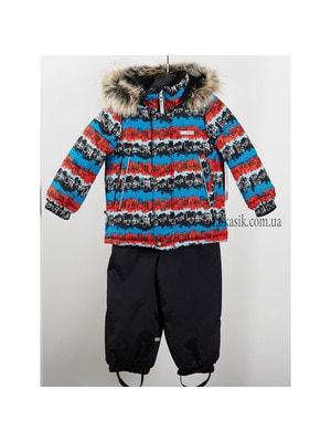 Комплект, Куртка  (сині, червоні смуги; місто)) + напівкомбінезон ROBBY, Чорний, Lenne Естонія, 20OZ