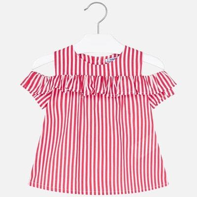 Блуза, в білу смугу, Фуксія, Mayoral Іспанія, 20VL