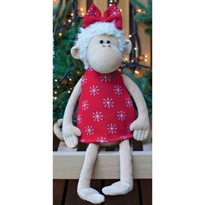 Іграшка М'яка, Мавпа в червоній сукні 30см, ORANGE Китай