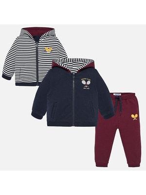 Комплект Спортивний, Кофта  + бордові штани, Темно-синій, Mayoral Іспанія, 20OZ