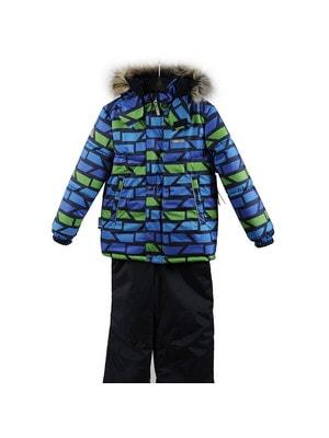 Комплект, Куртка  (зелені, сині фігури) + напівкомбінезон ROBIS, Темно-синій, Lenne Естонія, 20OZ