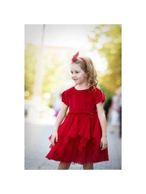 Сукня, короткий рукав (знизу фатин), Червоний, Mayoral Іспанія, 20OZ