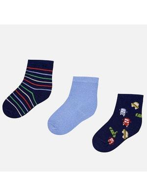 Шкарпетки, 3 пари, Темно-синій, Mayoral Іспанія, 19VL