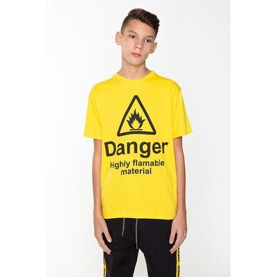 Футболка, Danger, Жовтий, Reporter young Польща, 21OZ