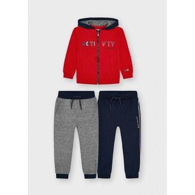 Комплект Спортивний, Кофта + штани 2 шт., утеплений, Червоний, Mayoral Іспанія, 22OZ