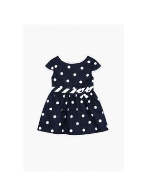Сукня, в білий горошок, Темно-синій, BOBOLI Іспанія, 19VL