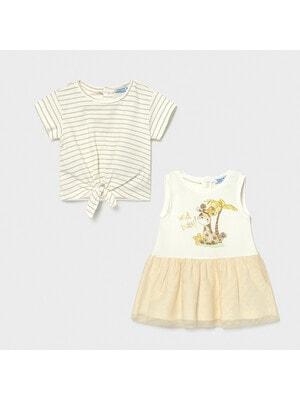 Сукня, + футболка, Кремовий, Mayoral Іспанія, 21VL