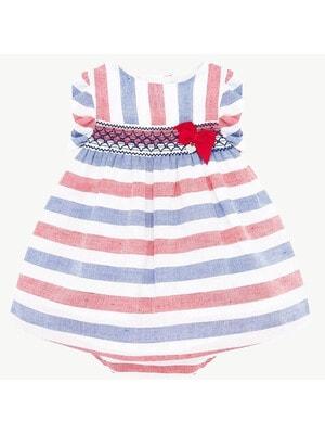 Сукня в червону та синю смугу, Білий, Mayoral Іспанія, 20VL