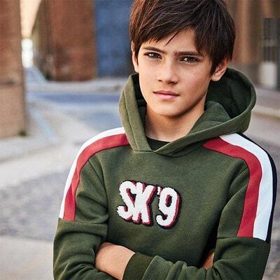 Пуловер, з капюшоном, Зелений, Mayoral Іспанія, 21OZ