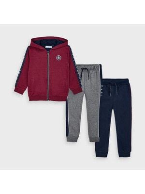 Комплект Спортивный, Кофта + штаны 2 шт. (Синие, серые), Бордовый, Mayoral Испания, 21OZ
