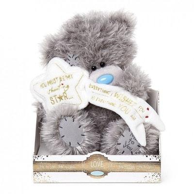Іграшка М'яка, Ведмедик Тедді із зіркою (побажання), 23 см, Me To You Великобританія