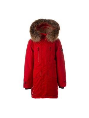 Куртка, з капюшоном (натуральне хутро)  DAVID 1, Червоний, HUPPA Естонія, 21OZ