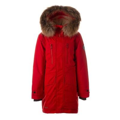 Куртка с капюшоном (натуральный мех) DAVID 1, Красный, HUPPA Эстония, 21OZ
