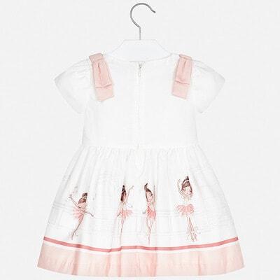 Сукня, (балерина у рожевому), Білий, Mayoral Іспанія, 20VL