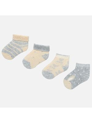 шкарпетки 4 шт., Сірий, Mayoral Іспанія, 20OZ