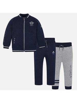 Костюм Спортивний, Кофта + штани 2 шт. (1-сірі), Темно-синій, Mayoral Іспанія, 20OZ