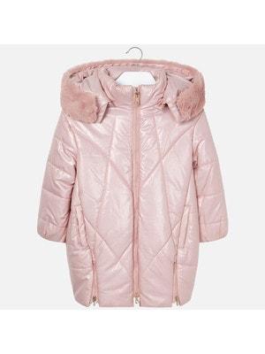 Пальто, з капюшоном, Рожевий, Mayoral Іспанія, 20OZ