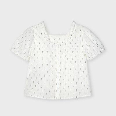 Блуза, в золотисту  рисочку, Кремовий, Mayoral Іспанія, 21VL