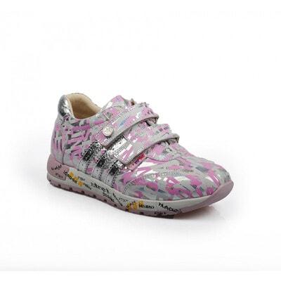 Кросівки, збоку срібляста вставка (голографічний малюнок), Рожевий, Dr.Mymi Orthopedic Туреччина, 21OZ