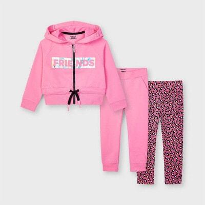 Комплект, Спортивний Кофта + штани 2 шт, Рожевий, Mayoral Іспанія, 21VL