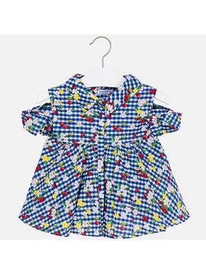 Блуза, В клітину з вишенками, Синій, Mayoral Іспанія, 19VL