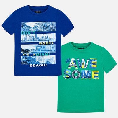 Комплект, 2 футболки, Синій, Mayoral Іспанія, 19VL