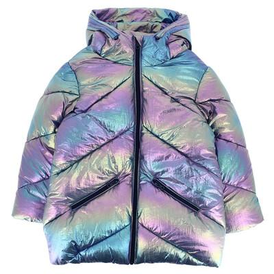 Куртка, з капюшоном (голографічний ефект), Бузковий, PRIMIGI Італія, 22OZ
