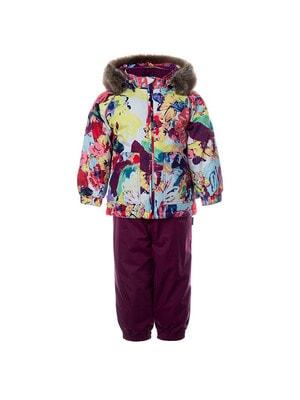 Комплект, Куртка біла + напівкомбінезон AVERY, Фіолетовий, HUPPA Естонія, 21OZ