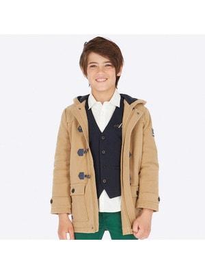 Пальто, з капюшоном, Бежевий, Mayoral Іспанія, 20OZ