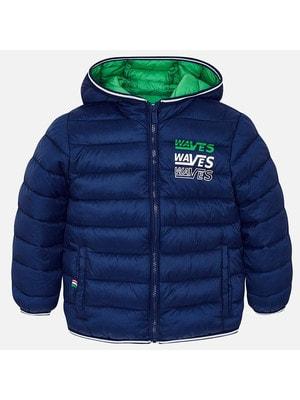 ОДЯГ Хлопчик Верхній Куртка, з капюшоном - сумочка, Темно-синій, Mayoral Іспанія, 19VL