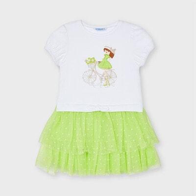 Сукня, (дівчинка в зеленій сукні), Білий, Mayoral Іспанія, 21VL