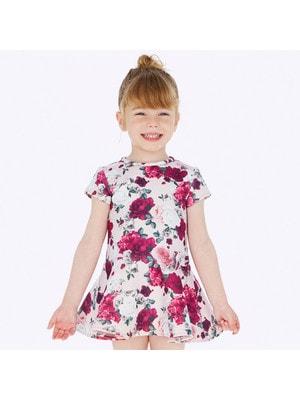 Сукня, короткий рукав (в квітах), Рожевий, Mayoral Іспанія, 20OZ