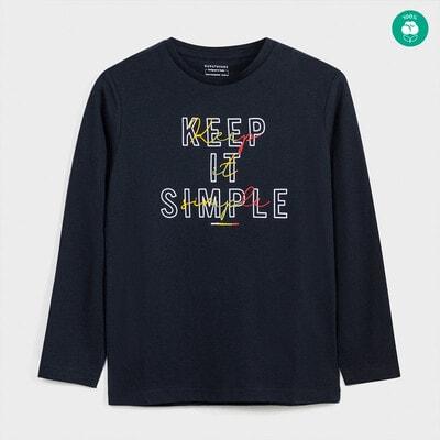 Джемпер, напис Keep it Simple, Темно-синій, Mayoral Іспанія, 21OZ