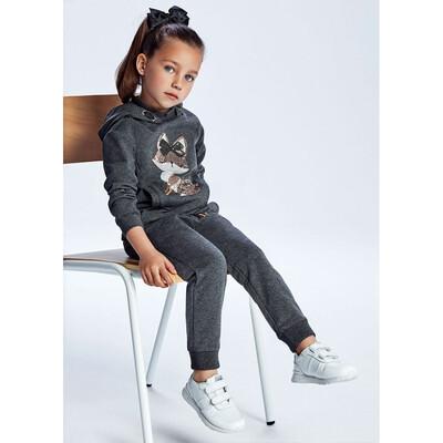 Комплект, Пуловер з капюшоном + штани, Темно-сірий, Mayoral Іспанія, 22OZ