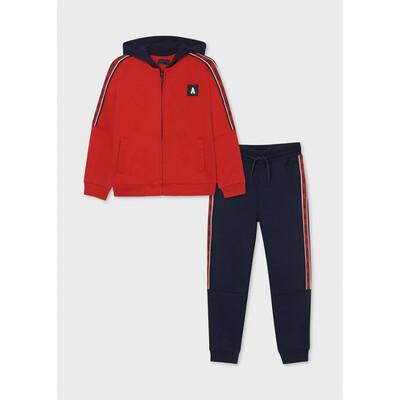 Комплект Спортивний, Кофта + сині штани, утеплений, Червоний, Mayoral Іспанія, 22OZ