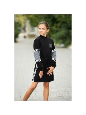 Сукня, довгий рукав (A Minimalism AMLL), Чорний, ТМ Colabear, 20OZ