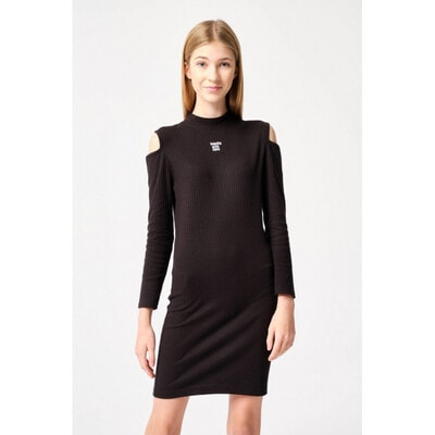 Платье, длинный рукав, Черный, Reporter young Польша, 21OZ
