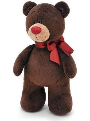Іграшка М'яка, Ведмедик  Choco з червоним бантиком 30 см (стоячий), ORANGE Китай
