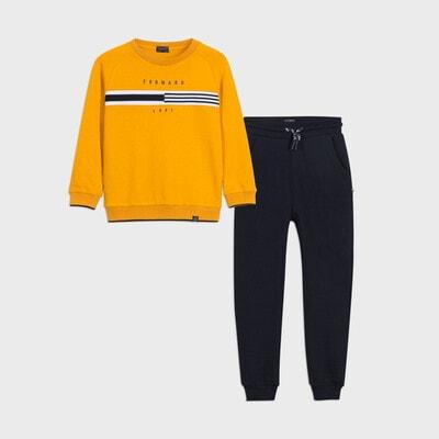 Комплект Спортивний, Пуловер + темно-сині штани, Бурштиновий, Mayoral Іспанія, 21OZ