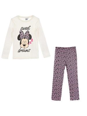 Піжама, серія Disney  MINNIE Джемпер (sweet dreams) + рожеві штани, Кремовий, Sun City Франція, 21OZ